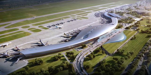 Ningbo Lishe International Airport T 2 Phase Iii Airport Design Airport Ningbo