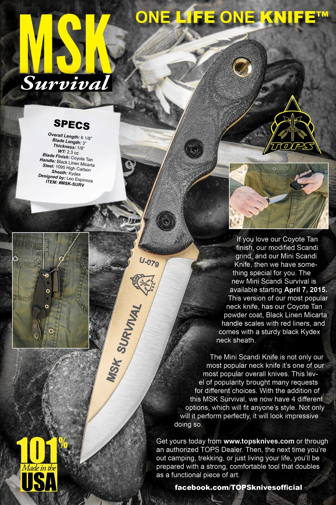 MSK SURVIVAL If You Love Our Coyote Tan Finish, Our
