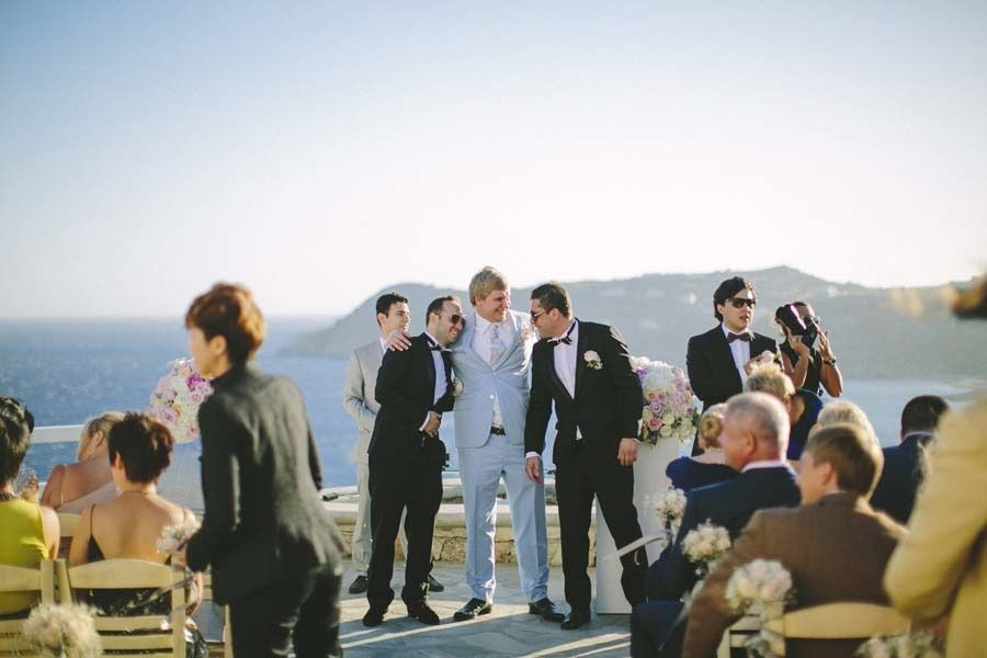 Best man and groomsmen