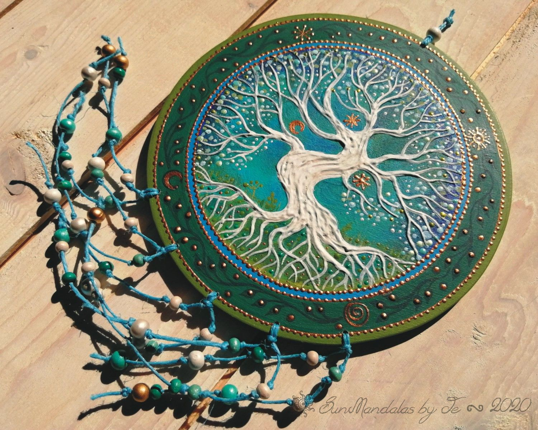 Tree of Life mandala with Sun, Moon, Stars and sipra symbol ( 17cm) #mandala#mandalaart#bohemianstyle#homedecor#handmade#original#sacredgeometry#ancientsymbols#photo#pohotart#sunshine#dotsmandala#dotart#acrylicpainting#hungary#sunmandalasbyje#sunmandala#sun#colorful#sacred#spiritualart#magic#mood#spiritualart#colors#originalhandpainted#originalmandala#yggdrasil#redtree#treeoflife