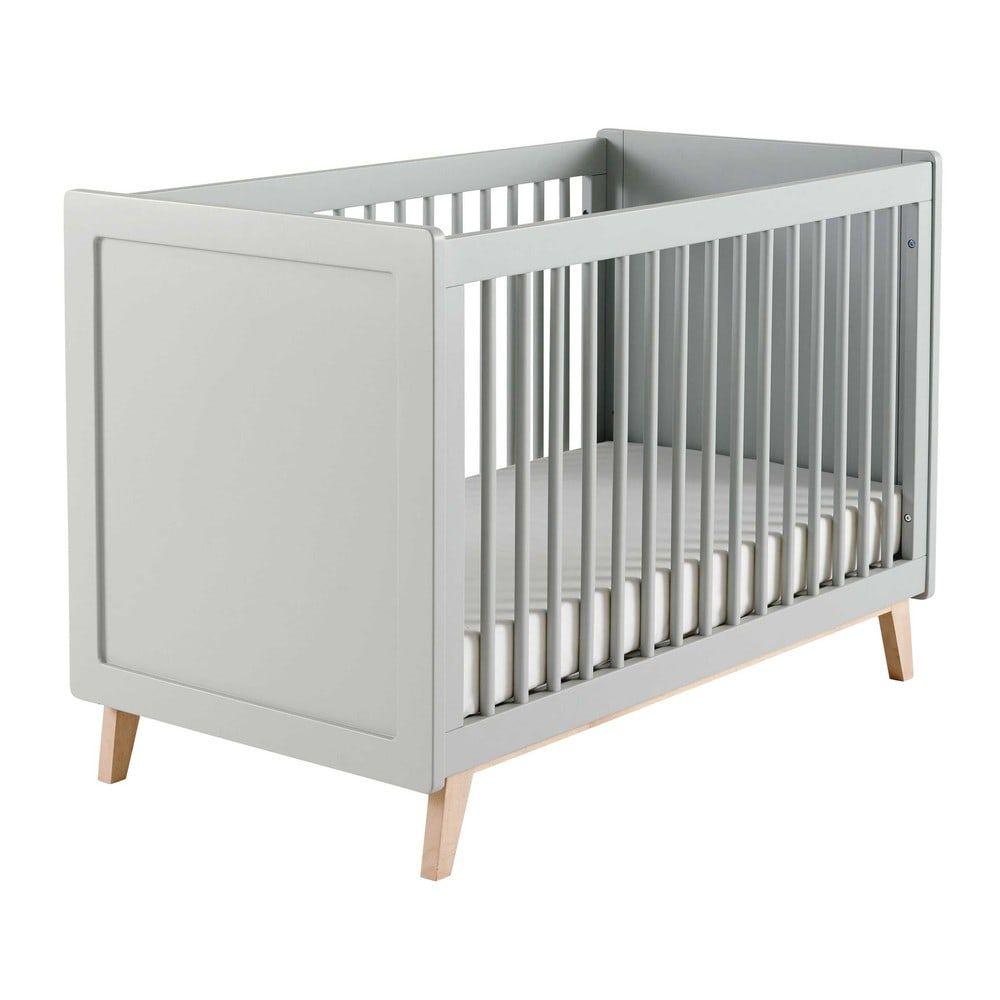 Lit bébé à barreaux blanc L 126 cm | Maisons du Monde | Chambre