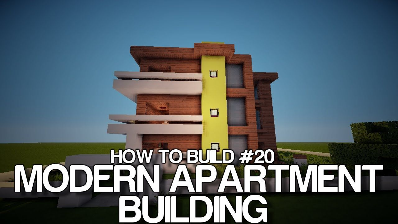 Minecraft How To Build 20 Modern Hotel Apartment Building On YouTube Mi