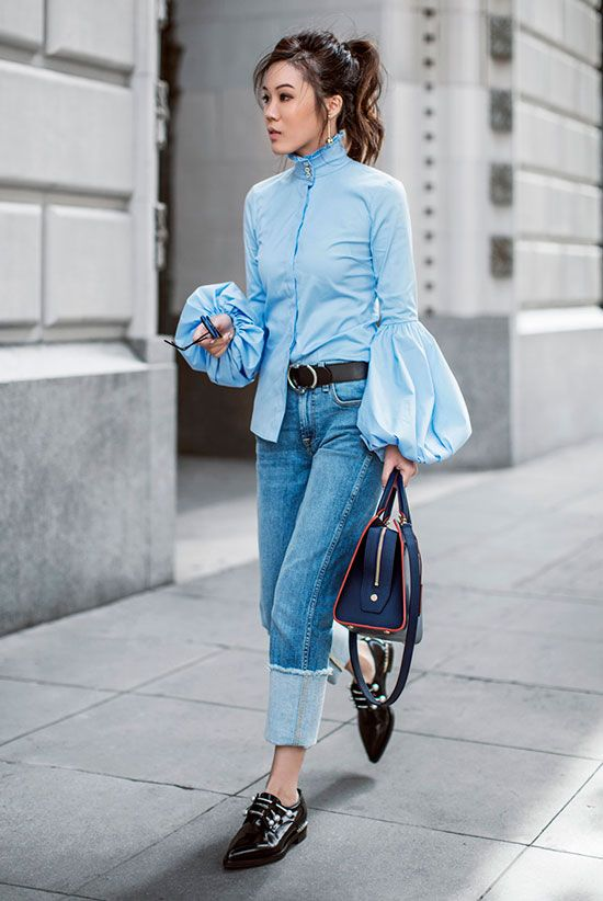 29bb729fadfc Statement sleeves are stealing the spotlight this spring. Not sure how to  wear this trend  You ll want to try these 10 chic statement sleeve outfits.