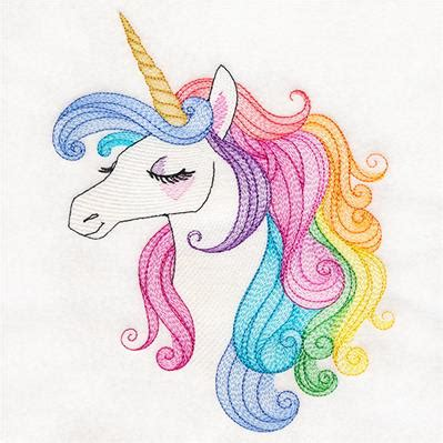 urban threads rainbow unicorn Ecosia Sewing embroidery