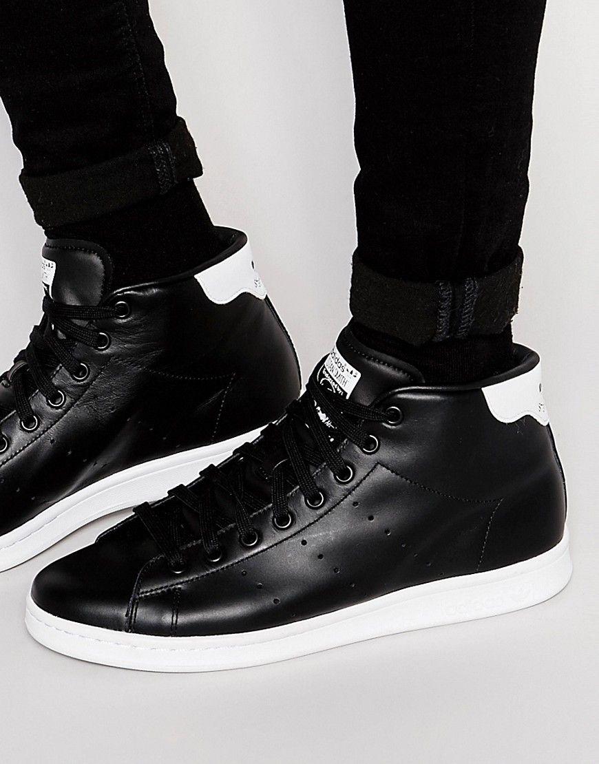 Girar cueva Etapa  Super cool adidas Originals Stan Smith Mid Trainers S75027 - Black adidas  Originals Løbesko til Herrer i … | Sneakers fashion, Adidas originals stan  smith, Sneakers
