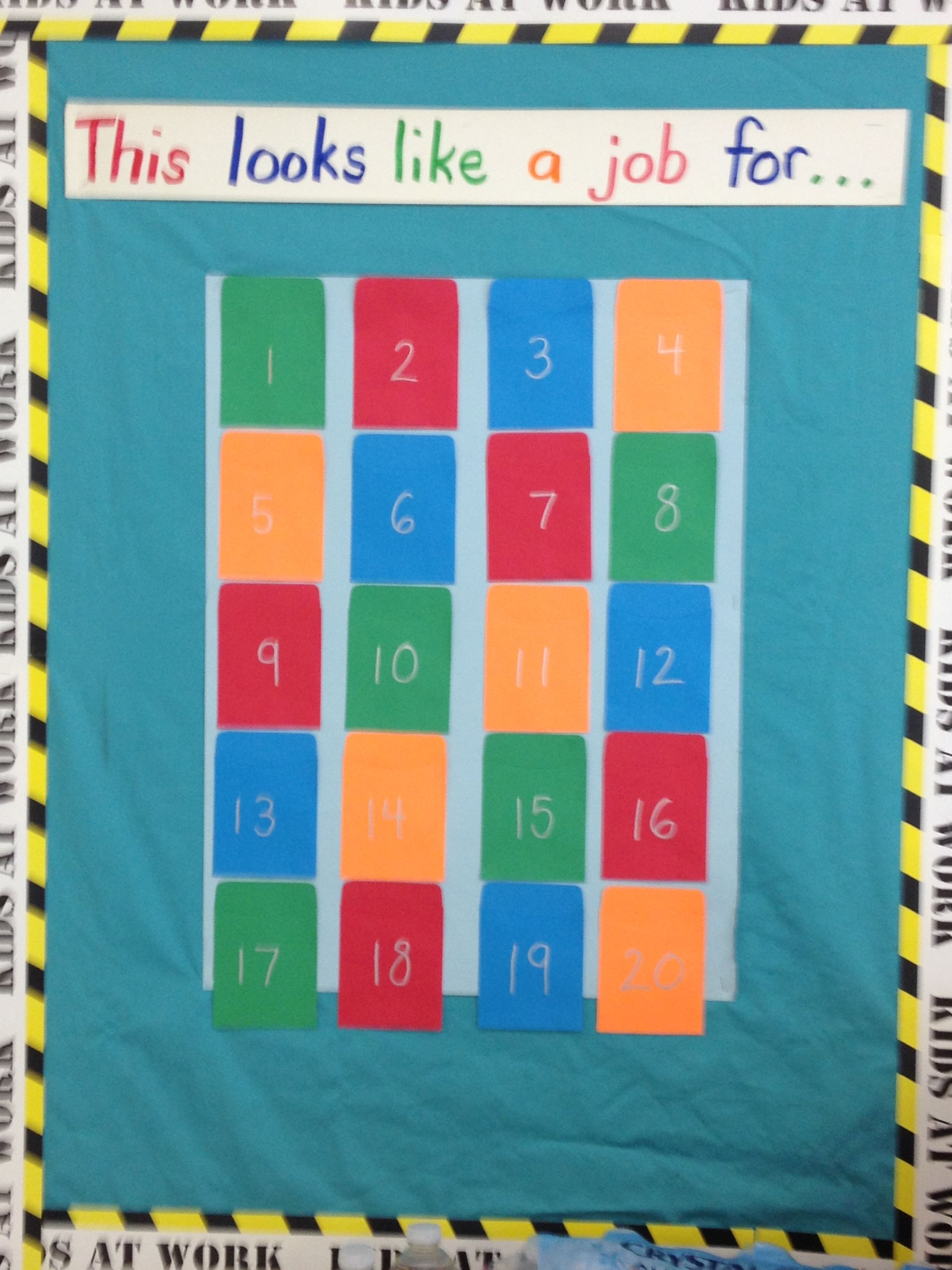Superhero classroom theme job chart.