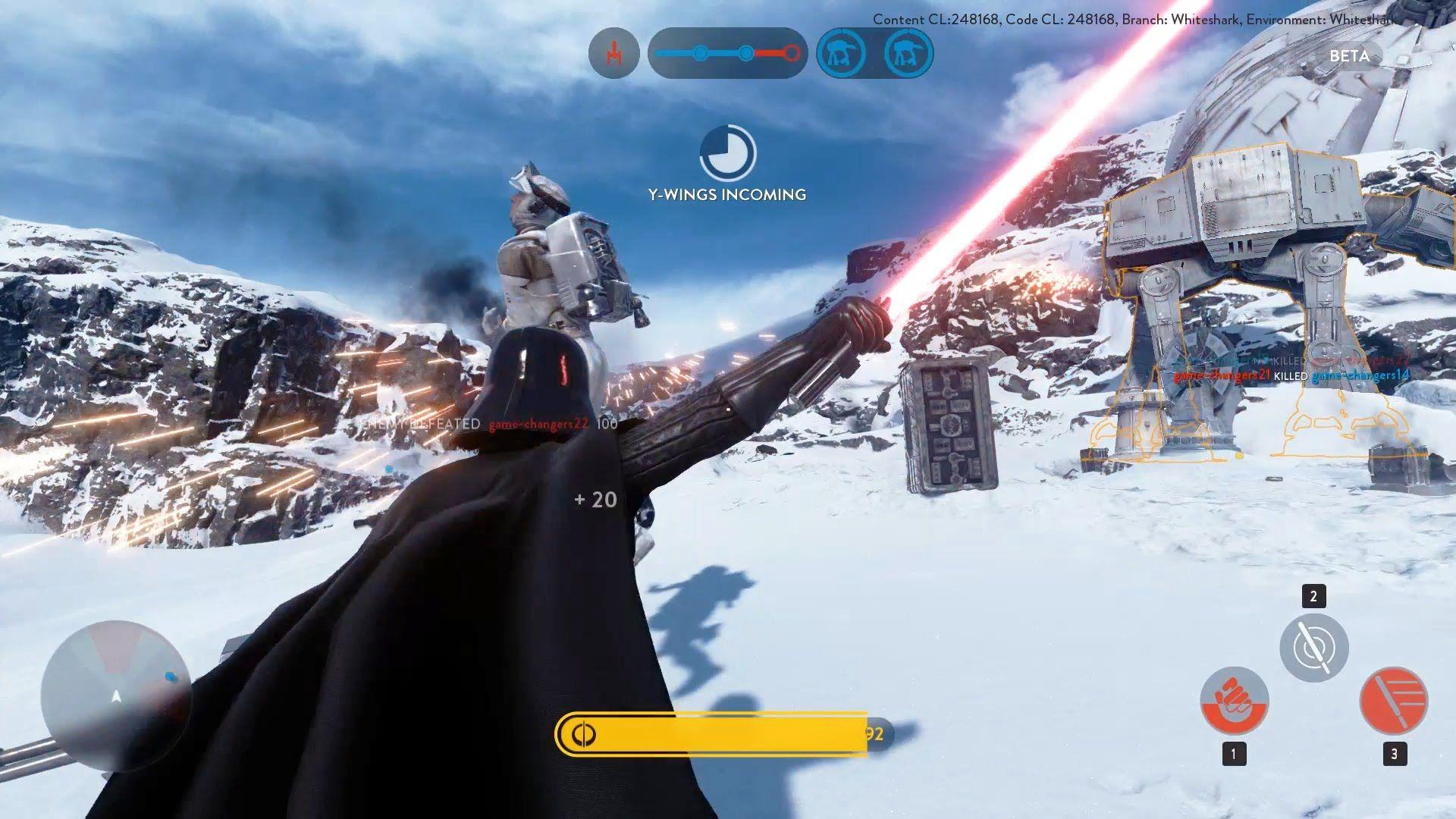 Darth Vader Luke Skywalker Gameplay Star Wars Battlefront Multiplayer Beta Gameplay Star Wars Battlefront Battlefront Star Wars