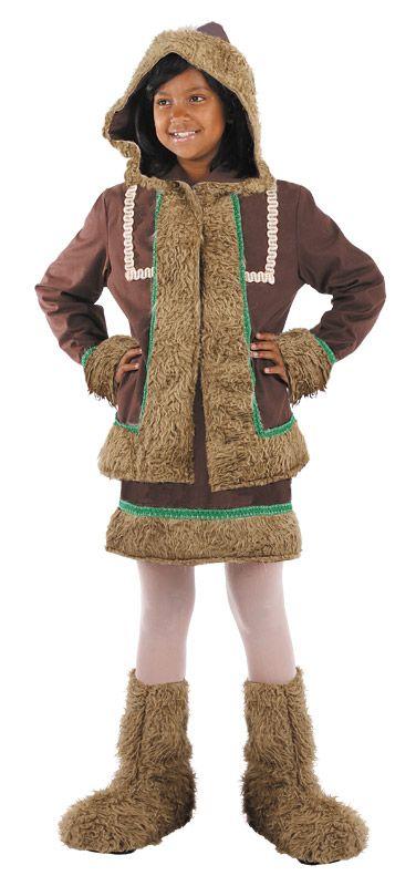 DisfracesMimo, disfraz de esquimal deluxe niña varias tallas. Te mantendrás caliente como un auténtico esquimal del Ártico en las frías noches. Es el disfraz perfecto para acudir a Fiestas Temáticas. Este disfraz es ideal para tus fiestas temáticas de disfraces esquimal y regional adulto. fabricacion nacional