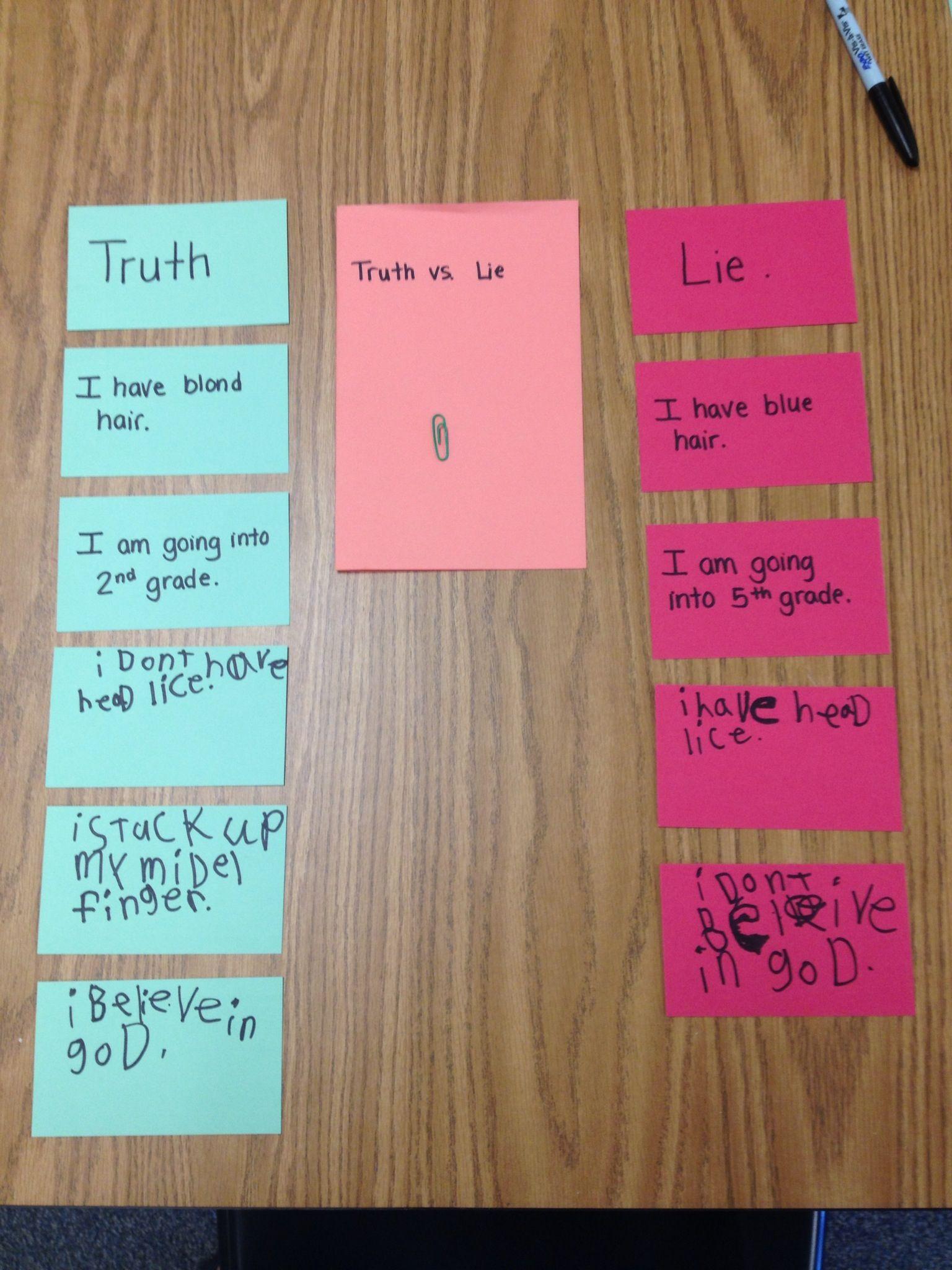 Character Education Honesty Worksheet
