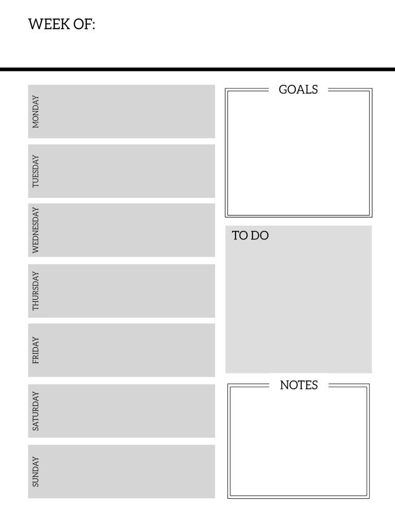 picture about Weekly Planner Page named Cost-free Printable Weekly Planner Internet pages Bullet magazines