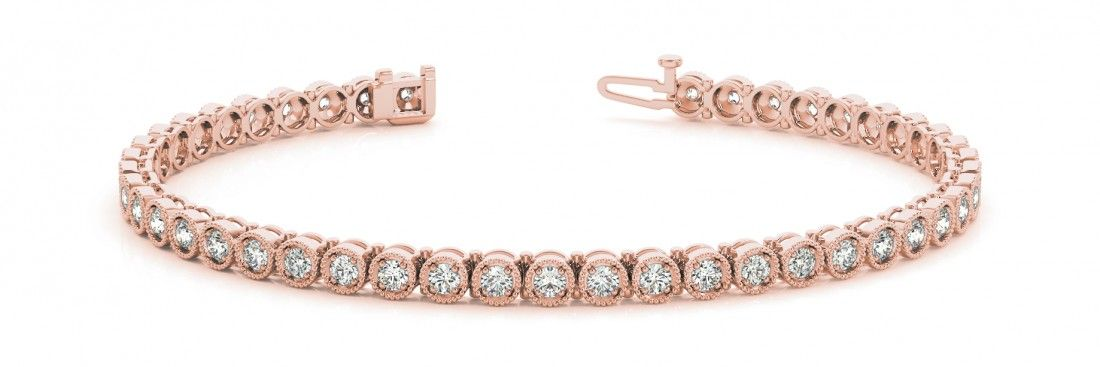 STYLE# 70284 - Prong Set - In Line - Bracelets