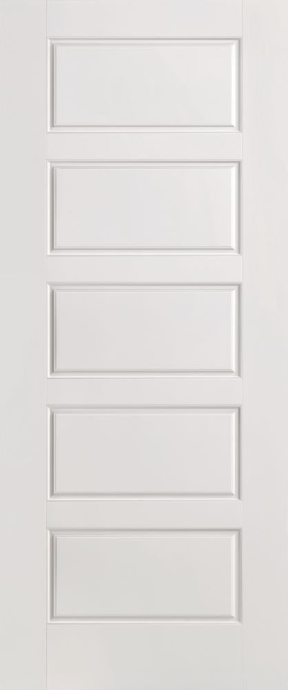 Masonite Primed 5 Panel Equal Smooth Interior Door 36 Inch X 80 Inch The Home Depot Canada Wood Doors Interior Masonite Interior Doors Doors Interior