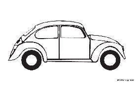 free coloring pages Volkswagen Beetle (mit Bildern