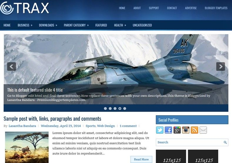 Trax 2 Columns - Blogger Template | Blogger templates ...
