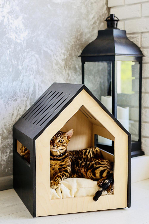 Modern Dog And Cat House Dog Bed Cat Bed Wooden Pet Etsy Modern Pet Furniture Indoor Dog House Pet Furniture Dog