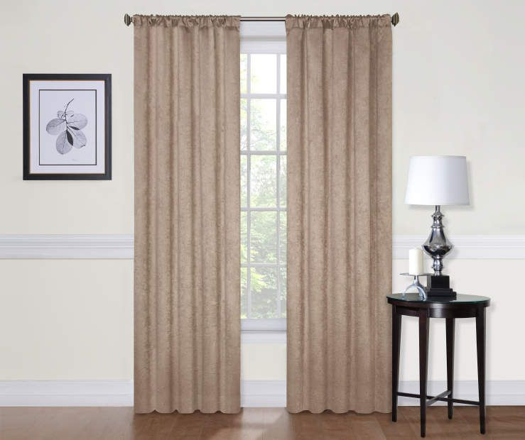Kitchen Curtains At Big Lots: Sundown Taupe Wellington Blackout Curtain Panel, (84