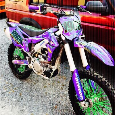 Custom Kx450f Dirt Bike Riding Gear Yamaha Dirt Bikes Dirt Bike Gear