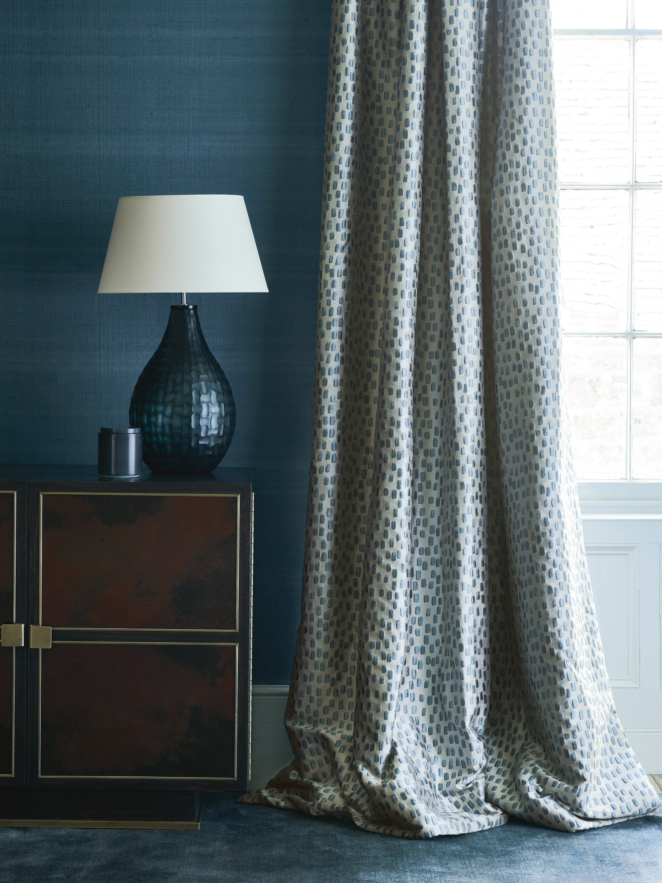 Teal Living Room Curtains Curtain In Dita Teal By Jane Churchill Atmosphere Collection