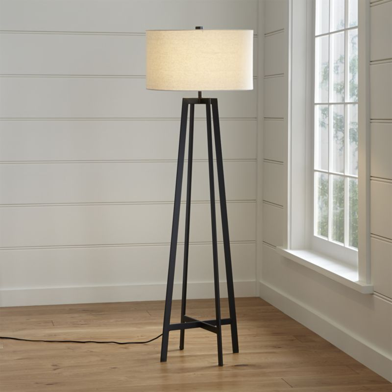Castillo Black Floor Lamp Reviews Crate And Barrel