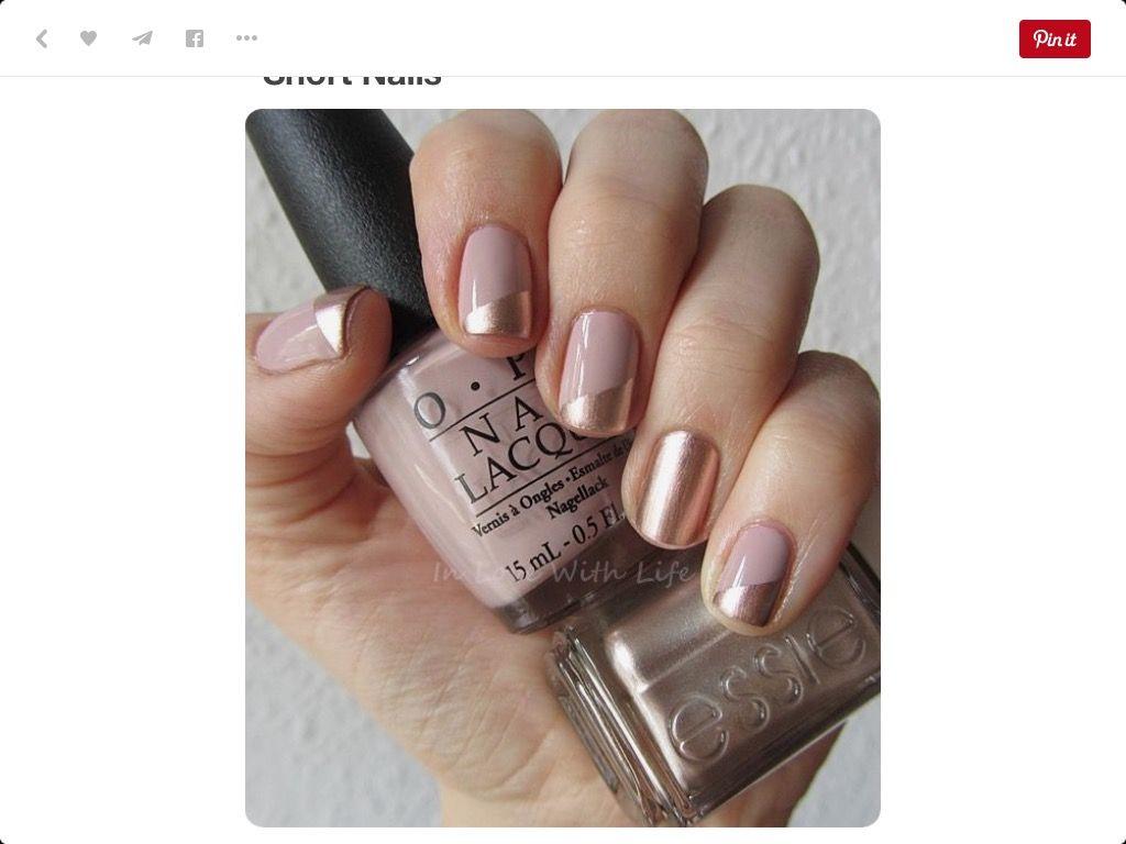 OPI & Essie rose gold color, \