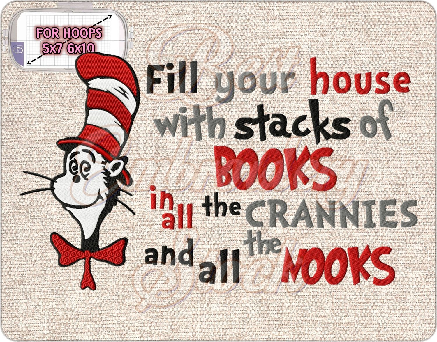 Dr Seuss Download Brother Machine Embroidery Designs files cards PES