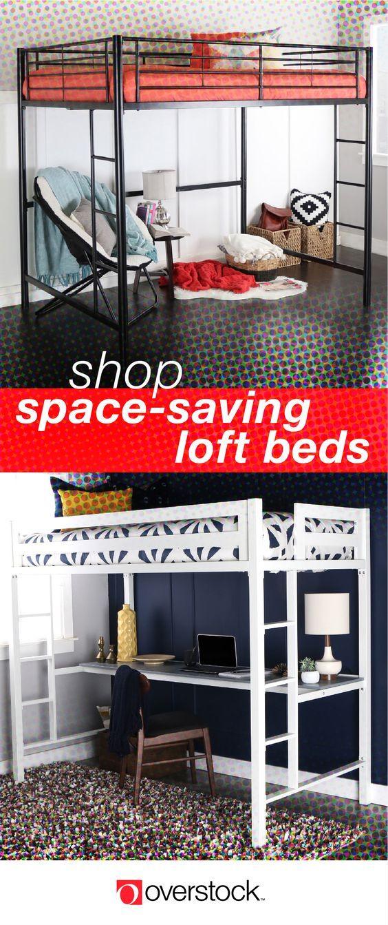 Full size loft $315 overstock   Kids toddler bed, Stylish ...