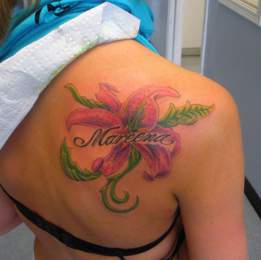 Lily Tattoo 2012 Outstanding Shoulders Tattoos For Girls