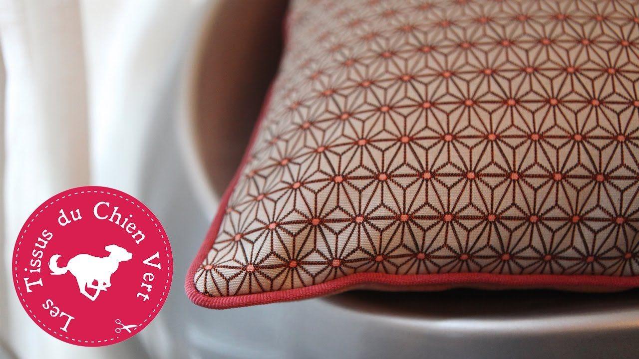 diy coudre un passepoil sur un coussin couture. Black Bedroom Furniture Sets. Home Design Ideas