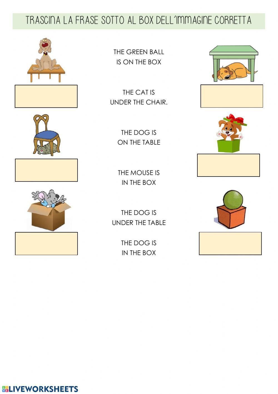 In On Under Interactive Worksheet Preposition Worksheets In On Under Worksheet For Kids On Under Worksheet For Kids Online worksheets for grade english