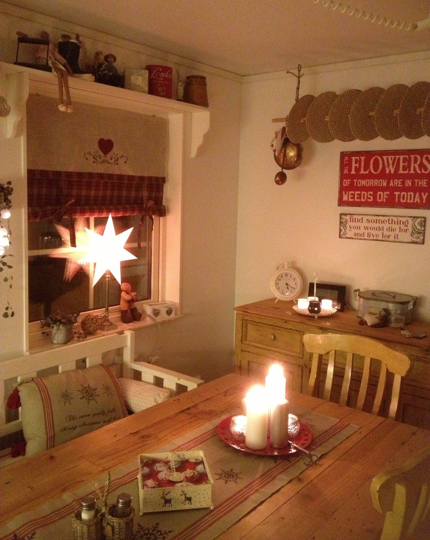 My kitchen at christmas time  Cozy christmas  Pinterest