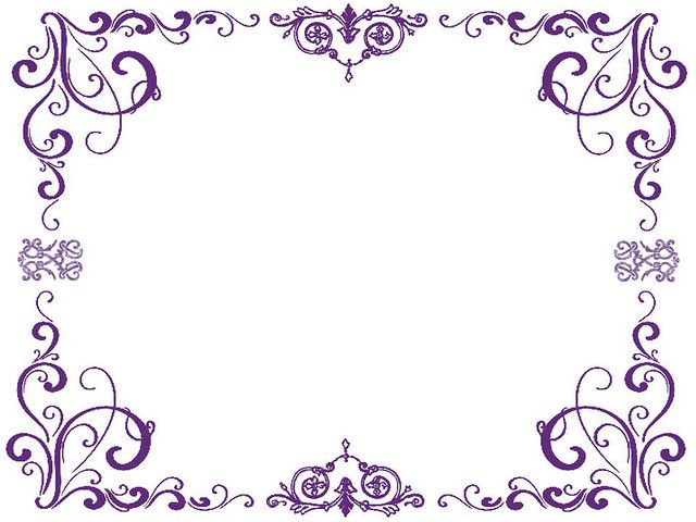 Purple Borders Free Clip Art Flower Sketches Love Coloring Pages