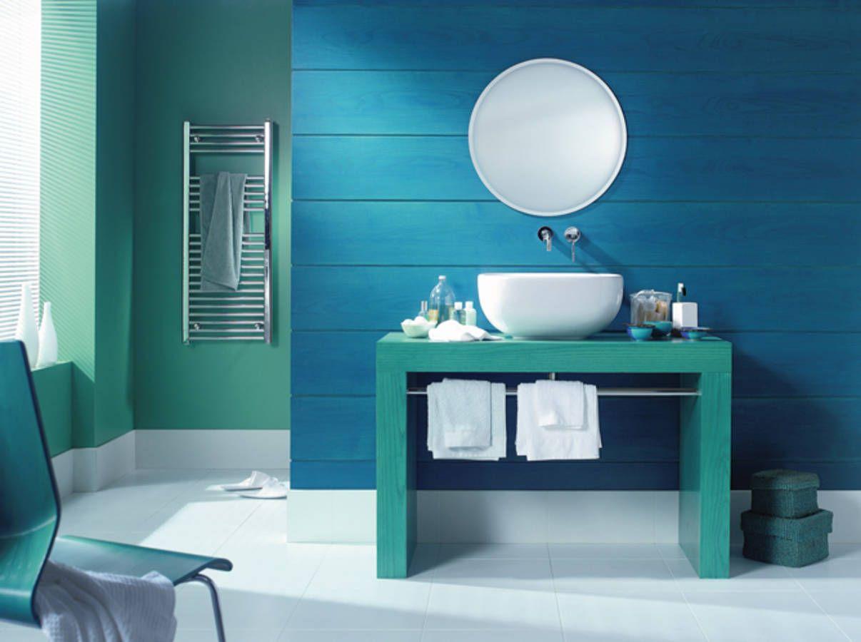 Salle de bains bleu vert maitre en couleur | Salle de Bain | Pinterest