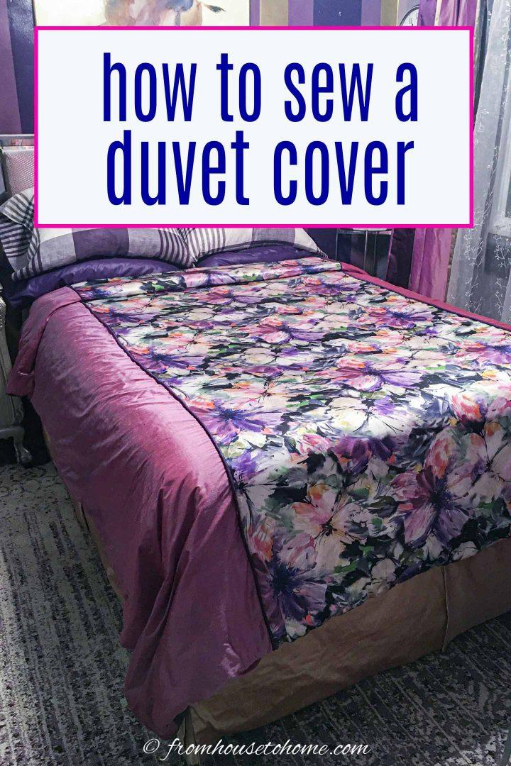 Diy Duvet Cover How To Sew Your Own Duvet Cover A Step By Step Tutorial Duvet Cover Diy Duvet Cover Tutorial Diy Duvet