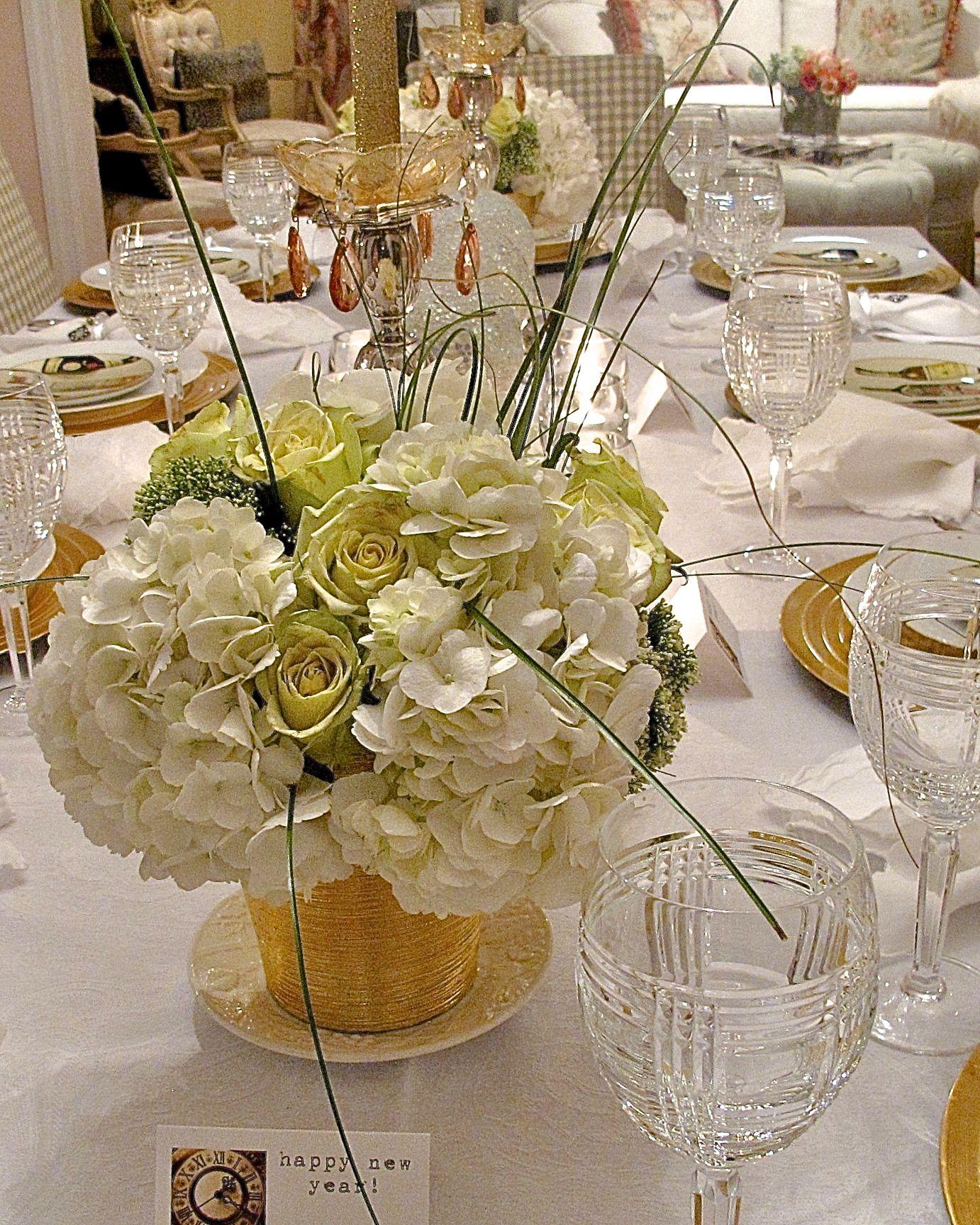 New Years Eve Party Themes Tablescape with Timepieces