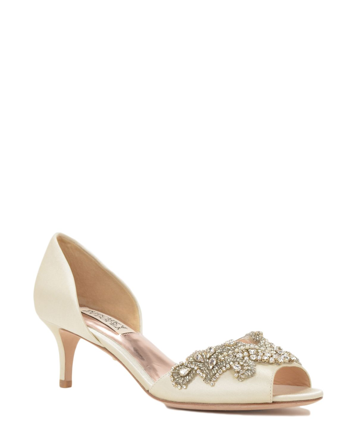 Badgley Mischka Barclay D Orsay Heel Evening Shoe now available