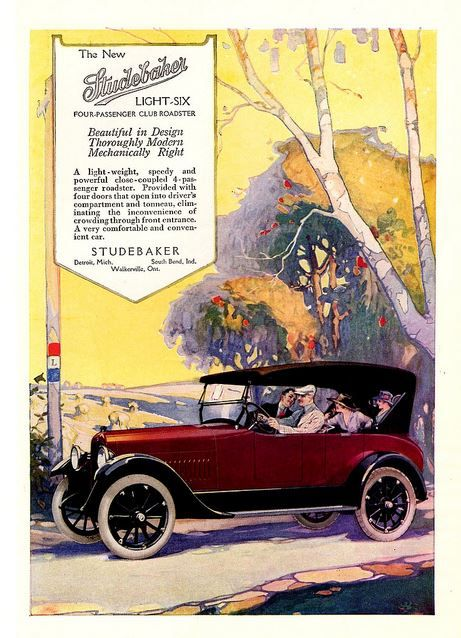 1918 Studebaker Light Six Advert