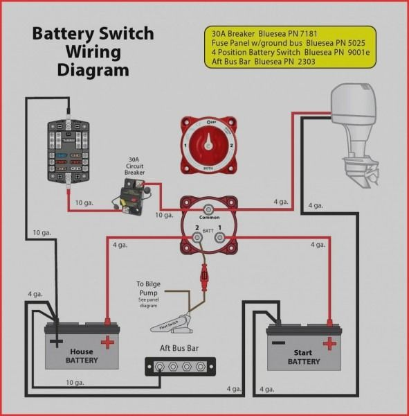 dual battery switch wiring diagram  boat wiring pontoon