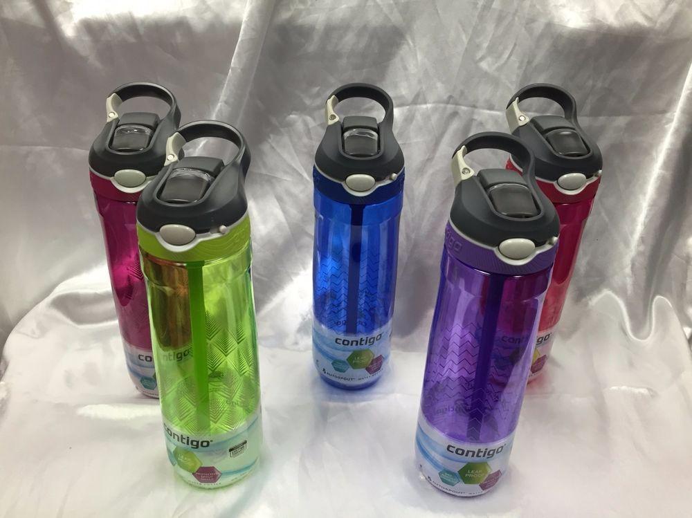 Contigo Sports Water Bottle BPA Free Autospout Straw