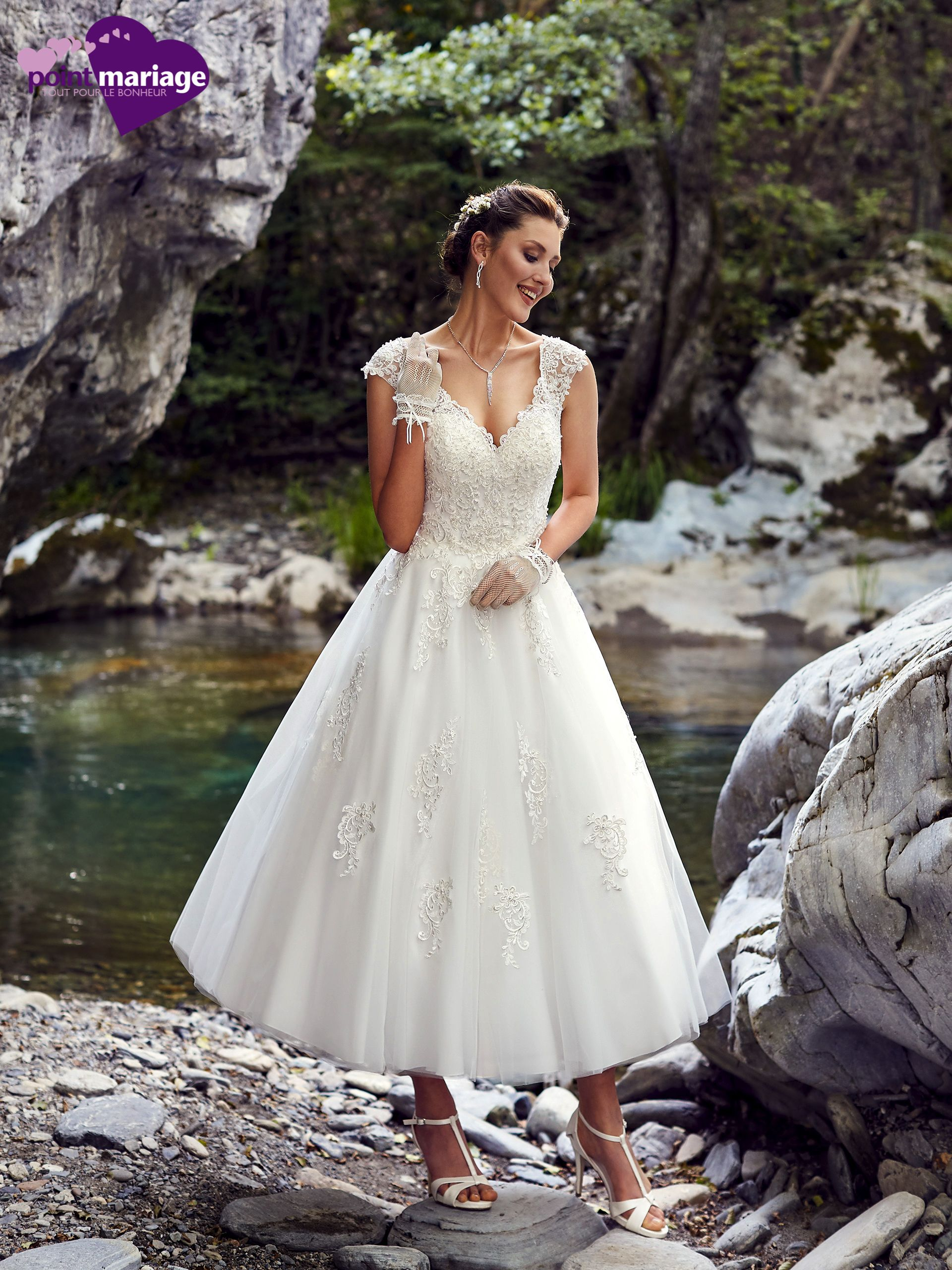 Robe de mariée Vitoria, robe de mariée cheville