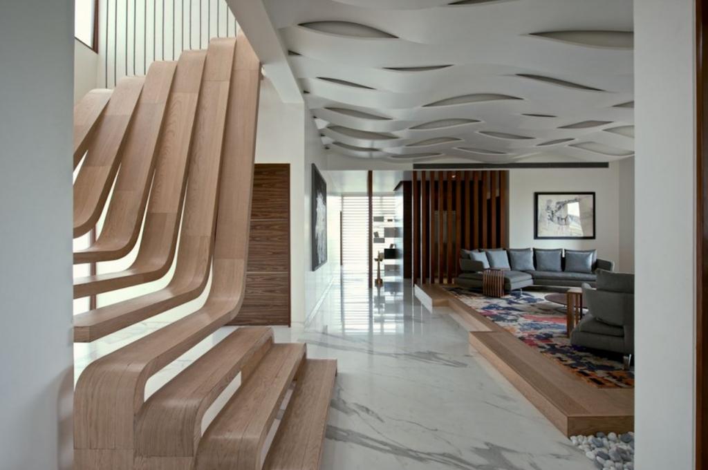 Très bel escalier design à mumbai