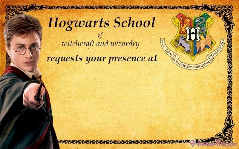 9 free harry potter diy invitations invitation world
