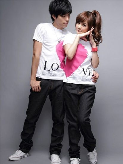 ec7201ea298 unique girl's fashion t-shirt from diy | Sweet Couple tshirts in ...