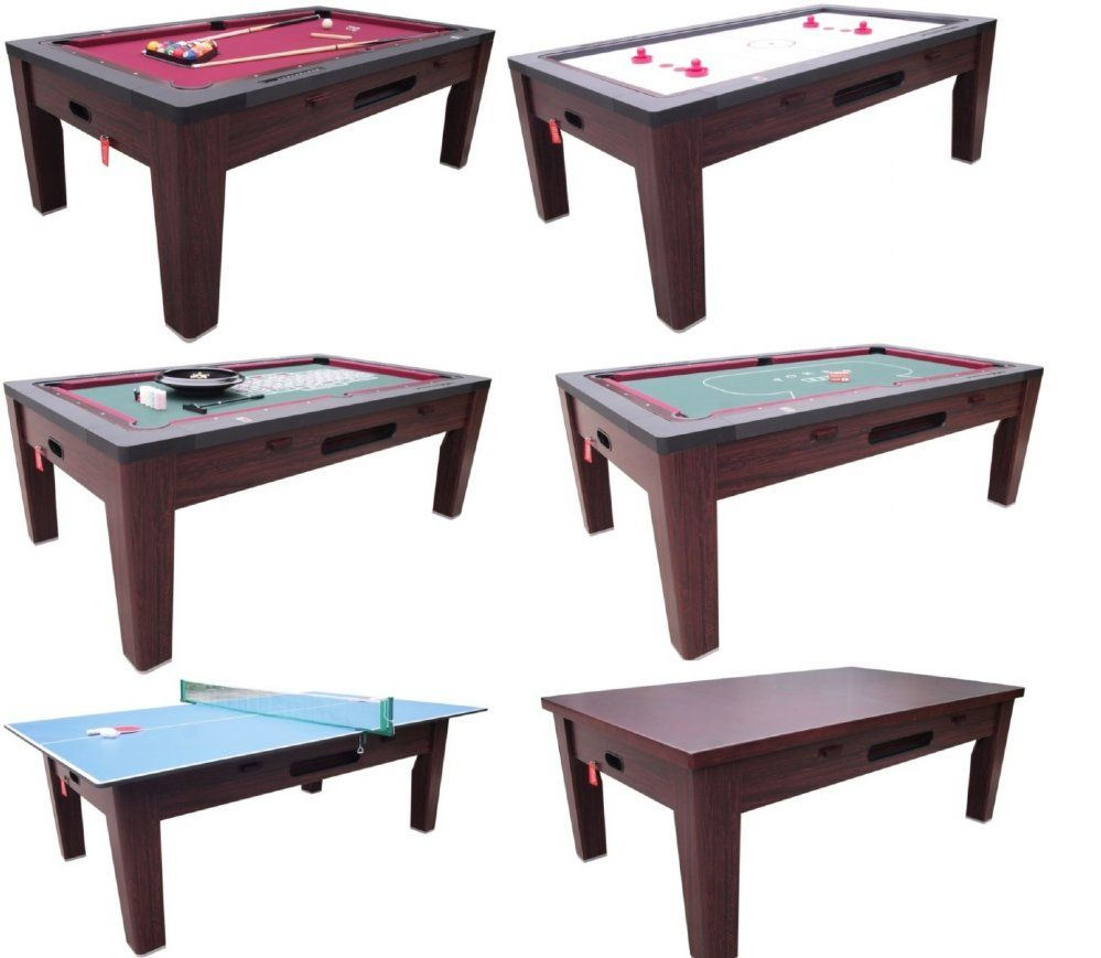 6 In 1 Multi Game Table Cherry Multi Game Table Pool Table