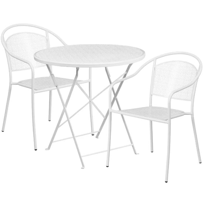 Nestor 3 Piece Bistro Set In 2021 Patio Table Set Metal Patio Furniture Patio Table