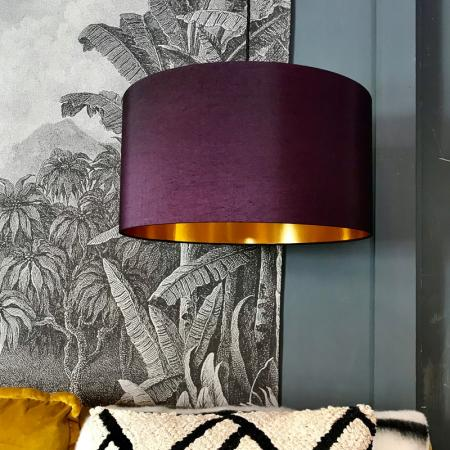 Quirky Lighting Red Candy Purple Lamp Gold Lamp Shades Gold Line