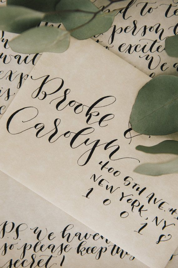 Custom Calligraphy Envelope Addressing by Honey Honey Calligraphy