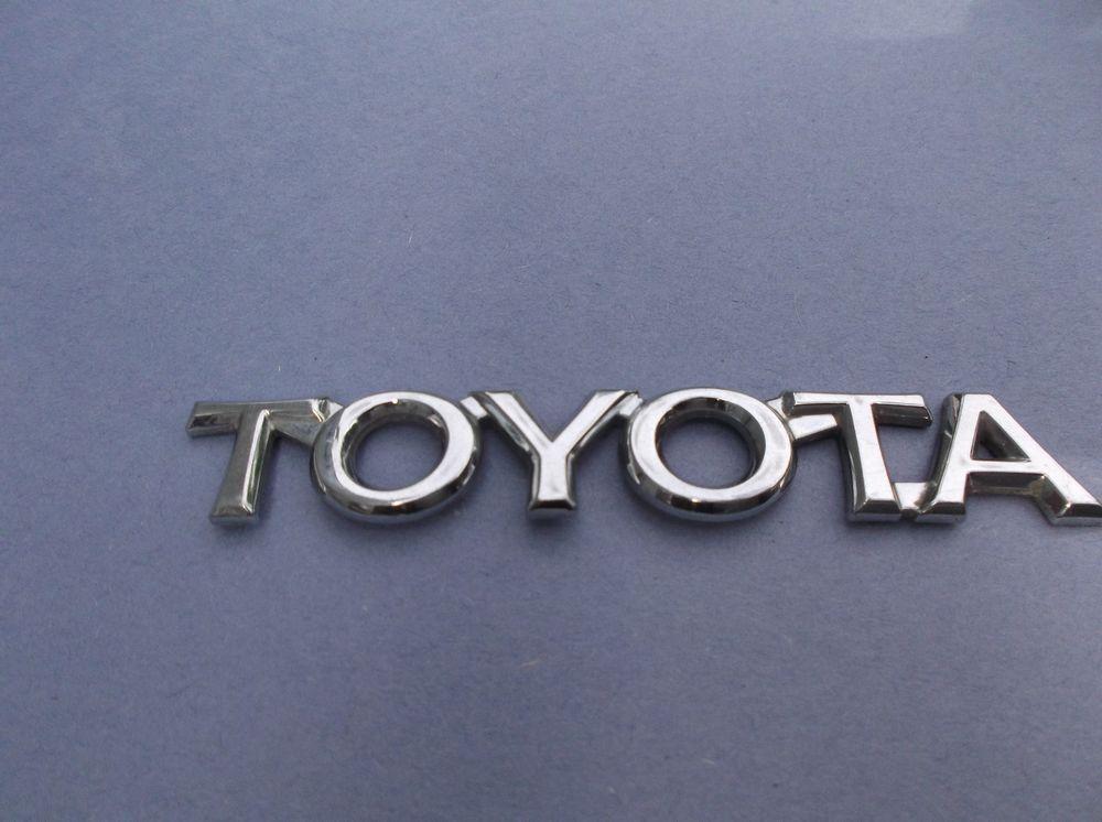 Toyota Corolla Trunk Emblem 75447 0630 Oem Chrome 4 1 4 Logo Badge Nameplate X7 Toyota Toyota Emblem Toyota Corolla Toyota