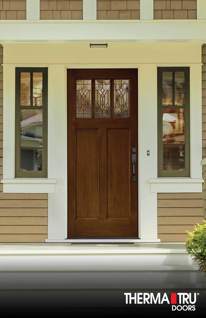 2 Panel Craftsman Style Fiberglass Exterior Door Therma Tru