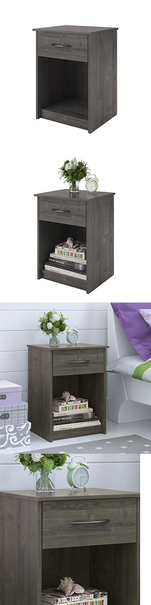 nightstands 38199: nightstand set of 2 bundle end table shelf