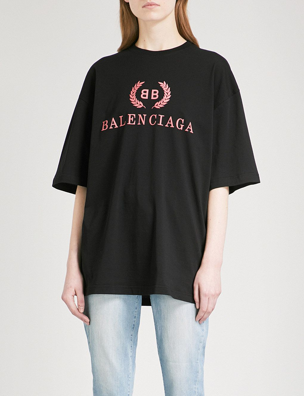 b649fb4d646 BALENCIAGA Oversized cotton-jersey T-shirt